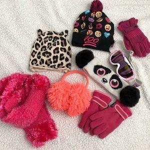 Other - Girls winter hats, earmuffs, gloves, scarf googles